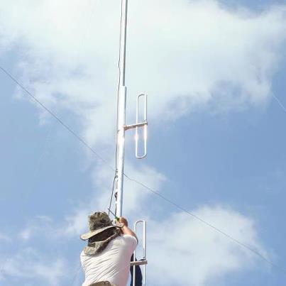 ขมรมสูตรสร้างสายอากาศโฟลเด็ดไดโพล4สแตกCB245MHz